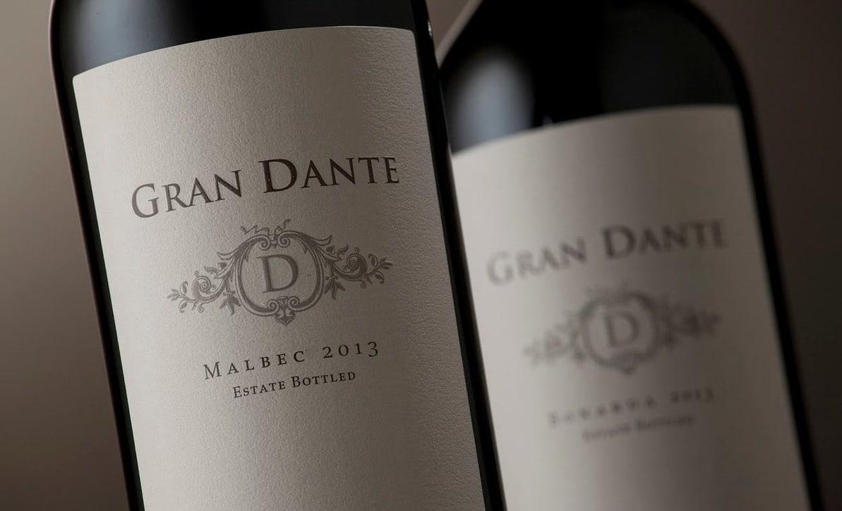 Gran Dante Malbec y Gran Dante Bonarda